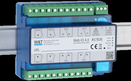 Web-IO 4.0 230V Relais 4xNO, 4xCO